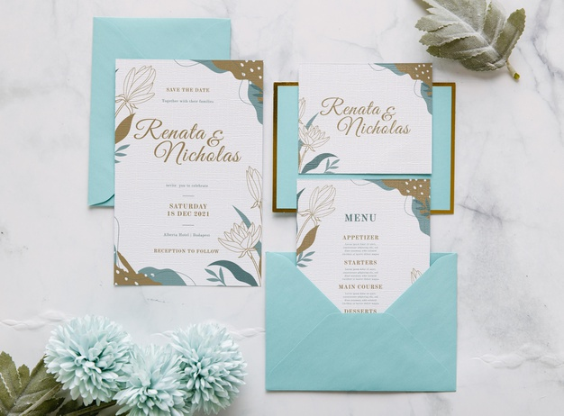 wedding-invitation-with-flowers-leaves_23-2148558366